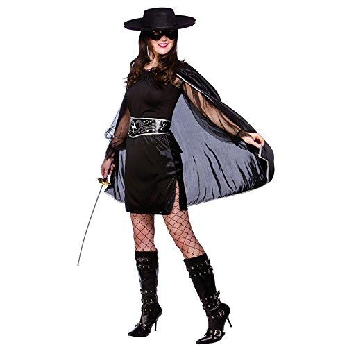 Sexy Verbrecherin Verkleidung für Frauen Fasching Karneval Halloween Kostüm L