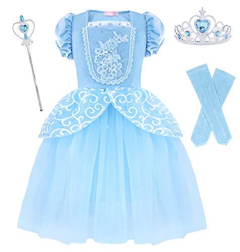 AmzBarley Aslaspapel kostuum kinderen meisjes prinses jurk cinderella chique party Halloween carnaval Cosplay