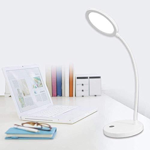 QIURUIXIANG - Lámparas LED plegables, lámpara de ojo, con puerto de carga USB regulable lámpara oficina, tres niveles de brillo, control táctil