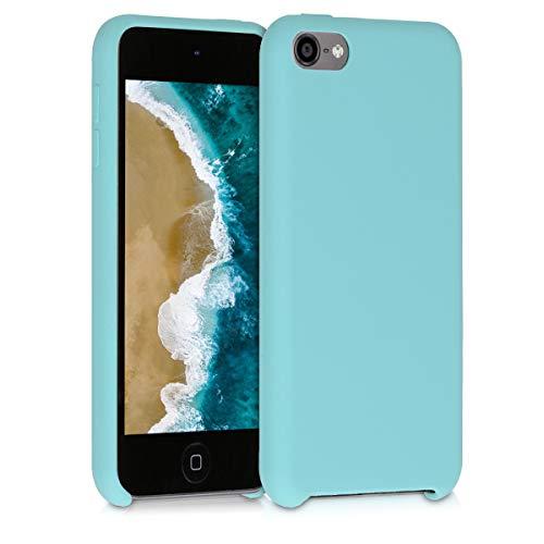 kwmobile Carcasa Compatible con Apple iPod Touch 6G / 7G (6a y 7a generación) - Funda Protectora de Silicona - Case Trasero en Menta