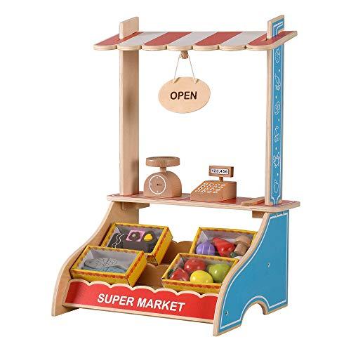 WOOMAX Legno Cibo, registratore, Accessori da Cucina, Giocattolo educativo per Bambini 3 Anni, 85387