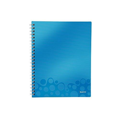 Leitz 46420036 Kollegblock WOW Get Organised, A4, PP, liniert, blau metallic