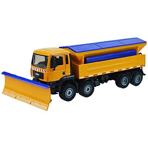 Xolye Legierung Technik Fahrzeugmodell 01.50 Schneeschaufel-LKW-Spielzeug Simulation Metall Kehrmaschinen Kinder Cognitive Spielzeug kann nach vorne schieben Boy Toy Car