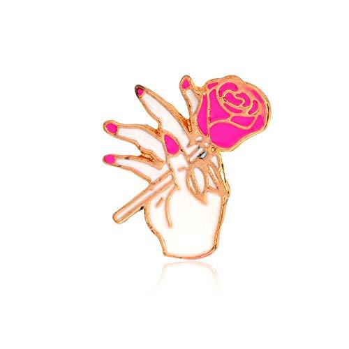 JTXZD broche roze vrouwen! Rose sportwagen High Heels Li Love Mom pin speld bloemensieraad zus vrouw