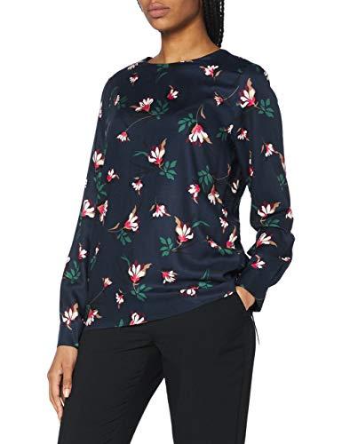 Seidensticker Damen Shirtbluse Langarm floral Bluse, Marine, 42