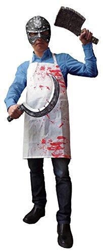 Folat 23725 Schürze mit Blut Halloween STD Costume, weiß, Universalgröße