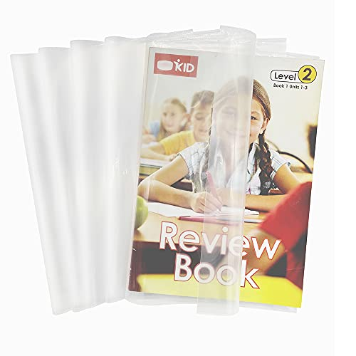 EULANT 10 fundas de plástico transparente con cierre autoadhesivo ajustable, funda transparente para chaqueta, tamaño de 16 K para libros de 19 x 26 cm