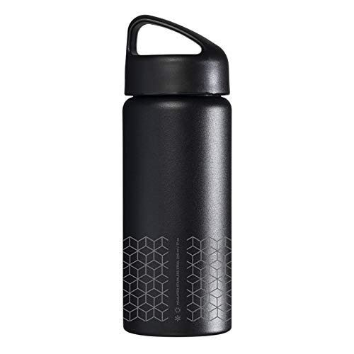 Laken Classic Botella Térmica Acero Inoxidable 18/8, Aislamiento de Vacío con Doble Pared y Boca Ancha, Hexa, 500 ml