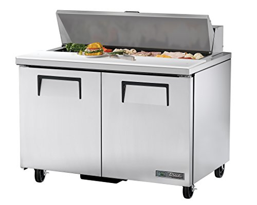 """True TSSU-48-12-HC Commercial Cold Food Prep Table with Hydrocarbon Refrigerant, 36.75"""" Height, 30.125"""" Width, 48.375"""" Length"""