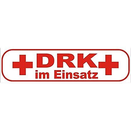 Drk Im Einsatz Wendeschild Wsb2 Für Die Sonnenblende In Normal Spiegelschrift Deutsches Rotes Kreuz Auto
