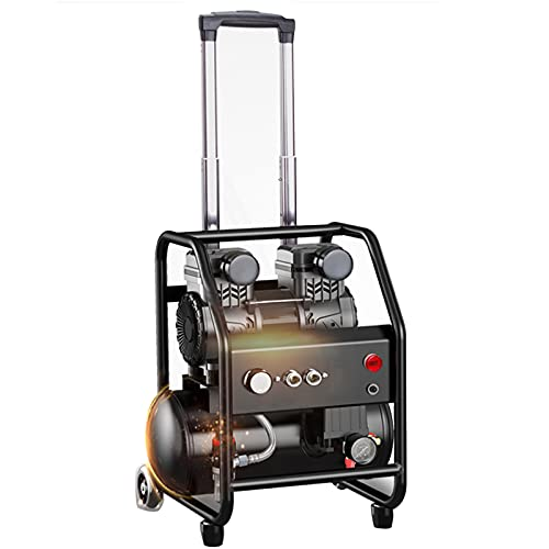 WUK Air Compressor 1580W Oil-Free Portable Tie Rod Type Air Pump Air Compressor Tire Inflator Quiet Woodworking Decoration Painting Pneumatic Tools