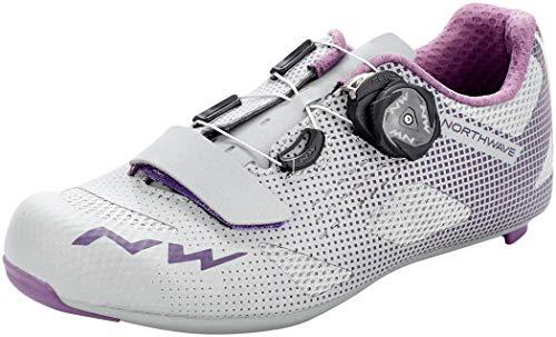 Northwave Storm Damen Rennrad Fahrrad Schuhe silberfarben/lila 2021: Größe: 36