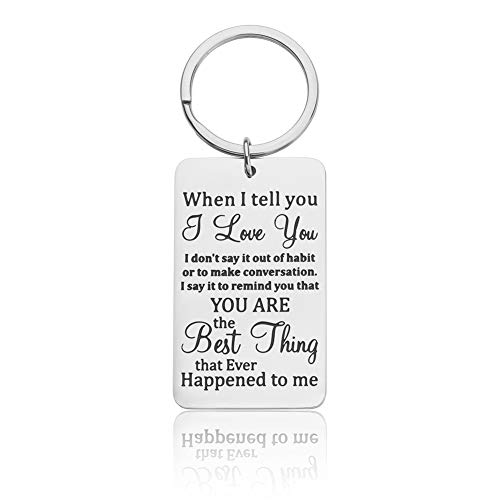 Valentine Day Gifts for Him Her Couple Keychain for Husband Wife Boyfriend Girlfriend I Love You Gifts Keyring Jewelry for Women Men Birthday Wedding Anniversary Christmas