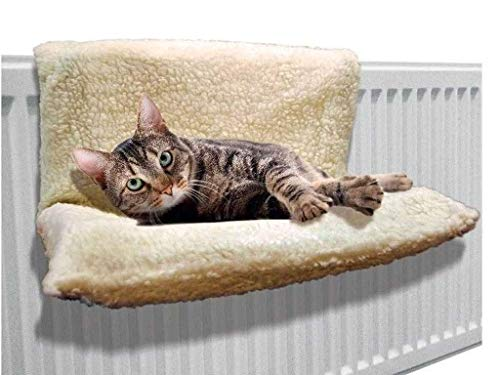 Trading Innovation Cat Dog Radiator Bed – 46 x 30 x 25 cm, Pet Bedding w/Fleece, Metal Frame, Polyester Cover, Cat Hammock | Pet Supplies