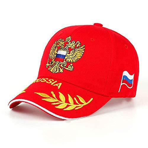 BDDLMM Art- und Weisebaseballmütze-Freizeit-Kappen-Stickerei-russisches Emblem-Unisexbaseballmütze für Frau u. Mann-Kappensport-Hut