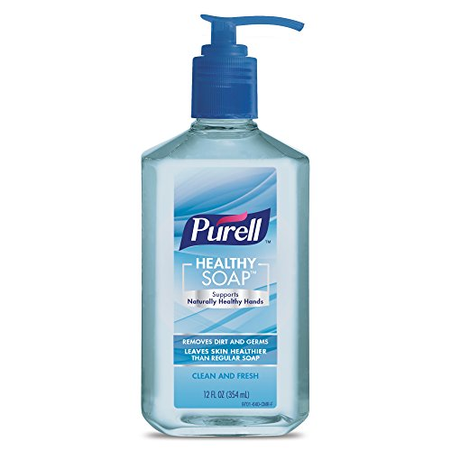 PURELL Healthy SOAP, Clean and Fresh Fragrance, 12 fl oz Soap Counter Top Pump Bottle - (Pack of 2) - 9701-06-EC