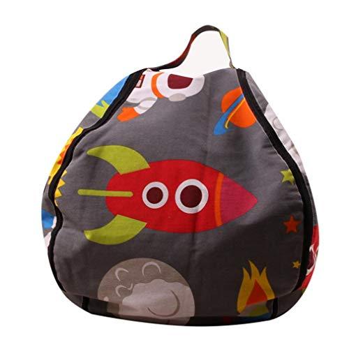 Children Plush Toys Storage Bag Large Stuffed Animal Seat Kit Storage Bean Bag Children Cute Bean Pouch Chair 18inch