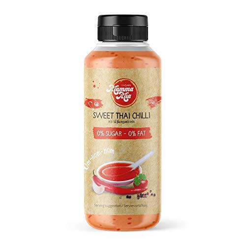 GymQueen Mamma Mia Zero Sauce | kalorienarm, ohne Fett & ohne Zucker | Zum Verfeinern von Gerichten oder als Salat-Dressing | vegetarisch und laktosefrei | Sweet Thai Chilli Soße