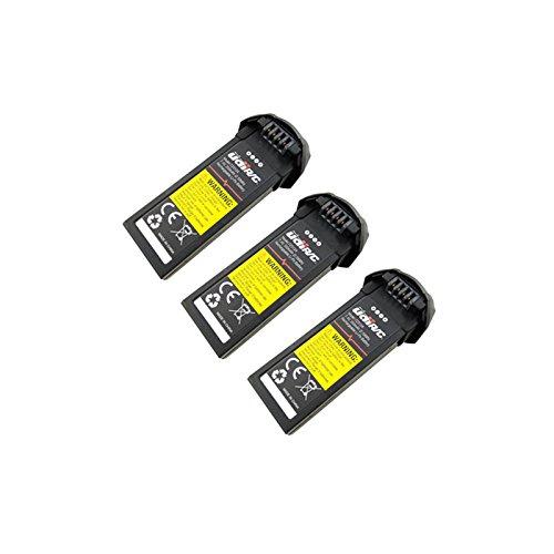 Yiwa - Batería de litio de 7,4 V, 350 mAh, para la batería de repuesto de helicóptero de control remoto UDI U31, U31W, U36, T25, U34W, U36W 3 unidades