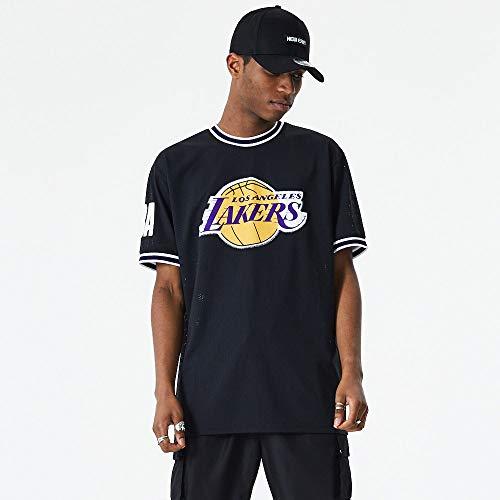 New Era Los Angeles Lakers Modelo NBA Oversized Applique tee LOSLAK Marca, Black, L