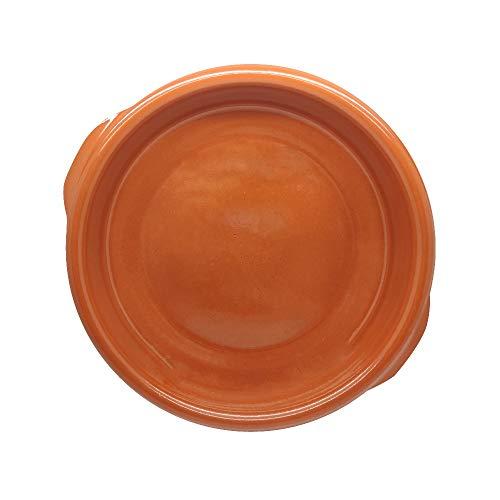 TAPAS & ENVASES RIOJA Cazuela Barro para Horno induccion, microondas, recipientes para Horno Olla de Barro Apta para vitroceramicas cazuelas de Cocina (1 Unidad)