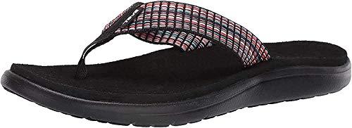 Teva Damen Voya Flip Sandal Womens Pantoffeln, Schwarz (Bar Street Multi Black Bsmbl), 38 EU