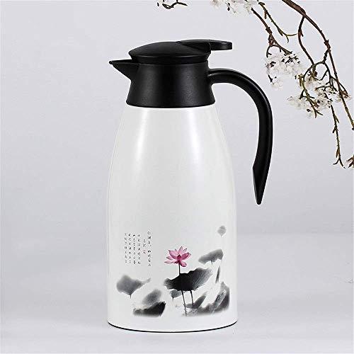 Botella de agua caliente de 12 horas de alta capacidad hervidor caliente y frío con gran capacidad para café caliente y té, viajes hogar hervidor (color: estanque, tamaño: 2L)