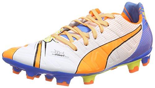 Puma Evopower 2.2 Pop FG, Botas de fútbol para Hombre, Blanco-Weiß (White-Orange Clown Fish-Electric Blue Lemonade 01), 43