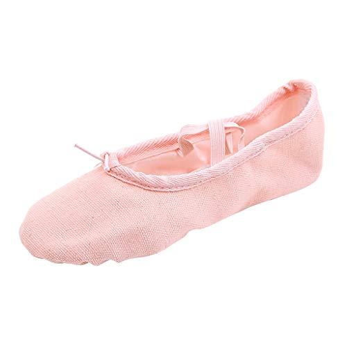 Luckhome Klettverschluß Sandalen Socken Wechselfußbett Damen Schuhe Frauen-Tanz-Yoga-Ballett-Punkt-Tanz-Eignungs-Gymnastik-weiche untere Tanzschuhe(Khaki,EU:36)