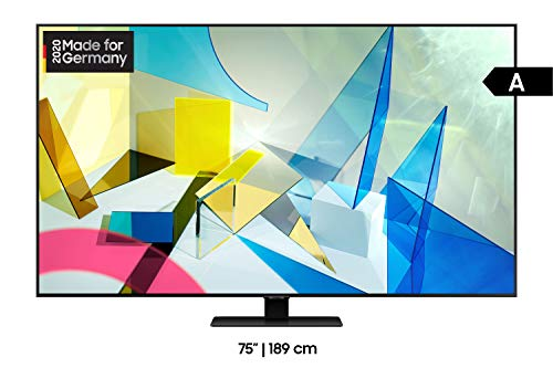 Samsung QLED 4K Q80T 75 Zoll (GQ75Q80TGTXZG) Quantum Prozessor 4K, Direct Full Array, Quantum HDR 1500
