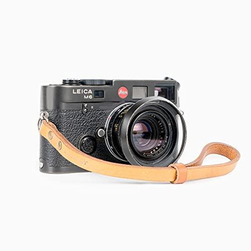 Bronkey Berlin 203 - Correa Cámara Compacta de Muñeca Mano Retro cámara Vintage Handmade Piel Cuero Original