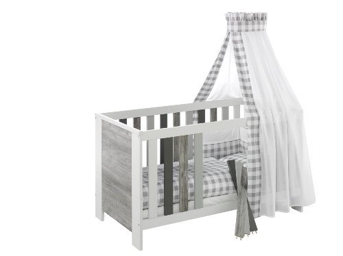Schardt Kombi-Kinderbett Woody Grey, 70 x 140 cm