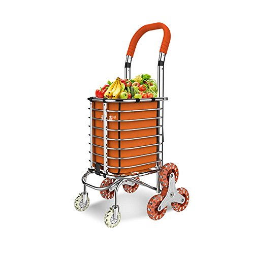 MEYLEE Carrito de compras de aluminio médico Cargador de gran capacidad de la rueda de 8 ruedas plegable , b