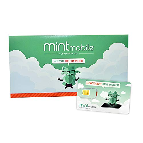 $15/Month Mint Mobile Wireless Plan | 4GB of 5G • 4G LTE Data + Unlimited Talk & Text for 3 Months (3-in-1 GSM SIM Card)