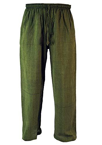 GURU SHOP Yogahose, Goa Hose, Herren, Grün, Baumwolle, Size:L (50), Hosen Alternative Bekleidung