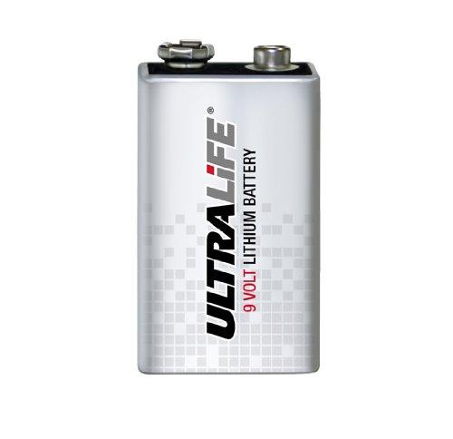 Ultra Life Lithium 9V / Block Batterie optimal für Rauchmelder geeignet