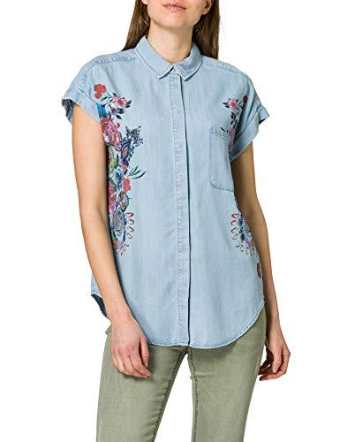 Desigual CAM_Sullivan Camiseta, Azul, L para Mujer