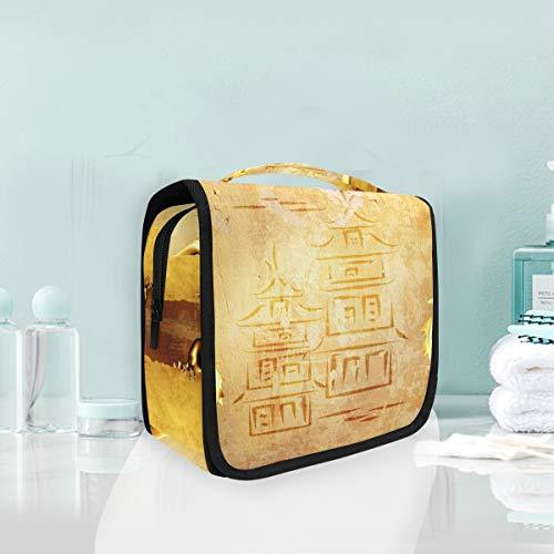 Make-up cosmetische tas draken en rollen van oude perkament draagbare opslag reizen toilettas