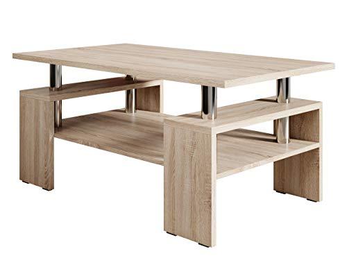 Mirjan24 Couchtisch Cube, Elegante Sofatisch, Wohnzimmer, Stilvoll Kaffeetisch, Wohnmöbel (Sonoma Eiche)