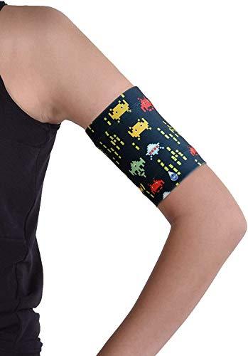Dia-Band KINDER, Glucose Sensor Schutz Armband Freestyle Libre, Medtronic, Dexcom oder Omnipod – Komfortabel wiederverwendbares Diabetikband. (Junior.XL (21-24 cm)