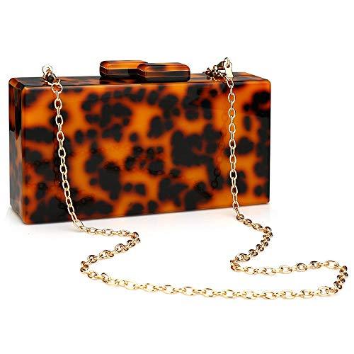 Womens Acrylic Evening Party Clutch Handbag Designer Perspex Purse for Wedding Party