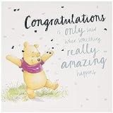 Hallmark General Congratulations Card - Cute Winnie-the-Pooh Design