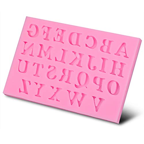 GJEFEGS 26 Capital Letters Shaped Silicone Cake Mold Sugar Paste 3D Fondant Cake Decoration Tool