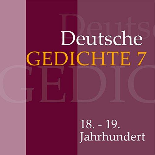 Deutsche Gedichte 7 - 18. - 19. Jahrhundert Titelbild