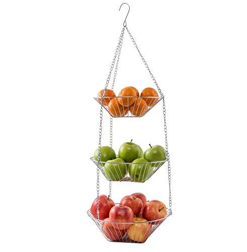 Mack Obstkorb Gemüsekorb Verschiedene Ausführungen (Hängekorb Set 3-TLG)