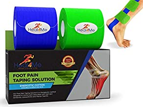 Heal4me Plantar Fasciitis Tape - PreCut Cotton Arch and heel Support Tape with E-Book, PT Recommended 20 Applications