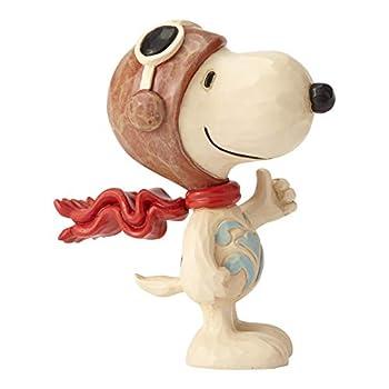 Enesco Jim Shore Peanuts Snoopy Flying Ace Miniature Figurine 3 Inch Multicolor