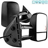 AUTOSAVER88 Tow Mirrors Compatible with 2007-2014 Chevy Silverado GMC Sierra, Power Heated Driver and Passenger Side Replacement Towing Mirror Set with Turn Signal and Dual Glass