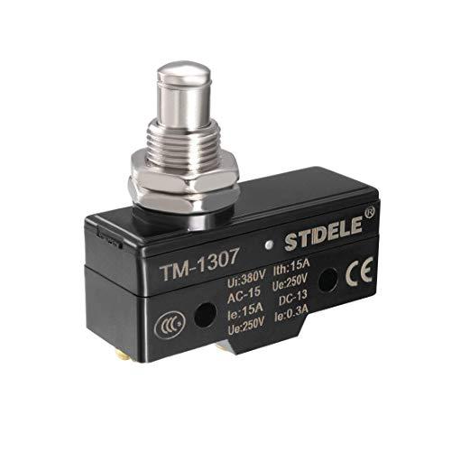 YeVhear TM-1307 SPDT 1NO + 1NC montaje sobre panel de botón a presión tipo Micro final de carreras bornes de tornillo