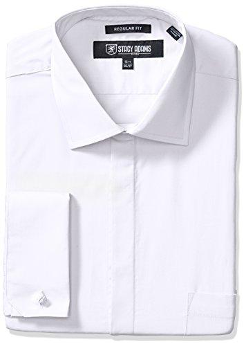 STACY ADAMS Men's Big-Tall 39000 Solid Dress Shirt, White, 20' Neck 36-37' Sleeve